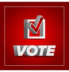 Vote badge for election vector