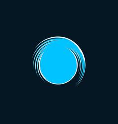 waves circle ocean creative abstract logo vector image