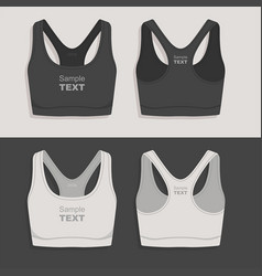 Women sport bra vector