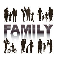 Young family concept vector image