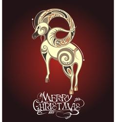 Christmas with Sheep vector image