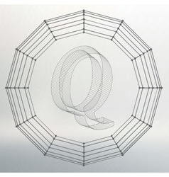 letter Q Fonts of Mesh vector image vector image
