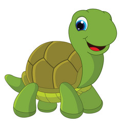 of cartoon turtle vector image