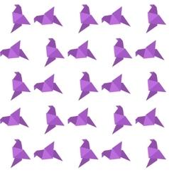 Origami bird seamless pattern vector image