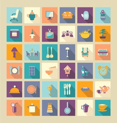 A set of home related icons elements- vector image
