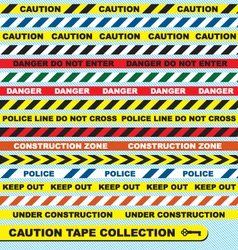 Caution Tape Collection vector image vector image