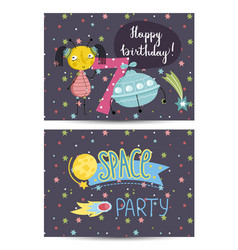 Invitation on children costumed birthday party vector