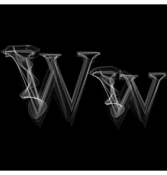 Smoke font letter w vector
