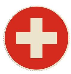 Switzerland flag post vector
