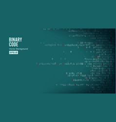 binary code background algorithm binary vector image vector image