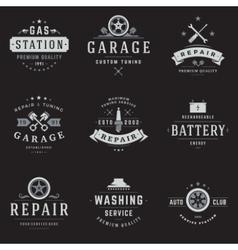 Car service logos templates set vector