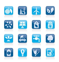Environment and ecology Icons vector image