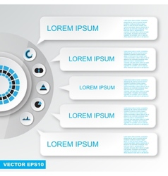 Modern flat design infographics elements vector image vector image