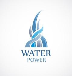 Upstream water flows logo template vector image vector image