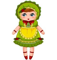 vintage doll vector image vector image