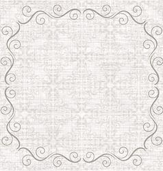 Damask background with vintage frame vector image vector image