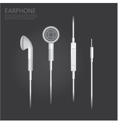 earphone isolated vector image vector image