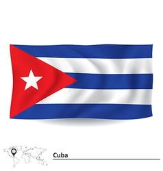 Flag of Cuba vector image vector image