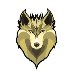 portrait of wolf beautiful vector image