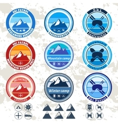 retro badges and labels set on the theme of vector image