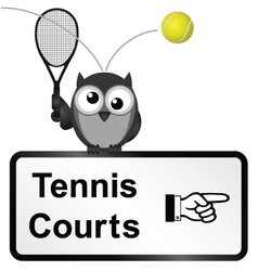 Tennis Courts vector image vector image