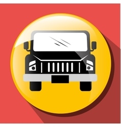 Transport vehicle and delivery vector image