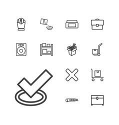 13 box icons vector