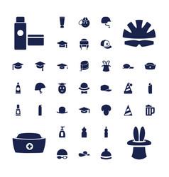 37 cap icons vector