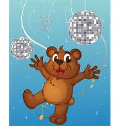 A baby bear dancing vector image