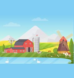 agriculture agribusiness and farming vector image