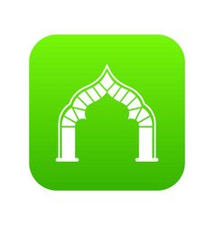 Arch icon green vector