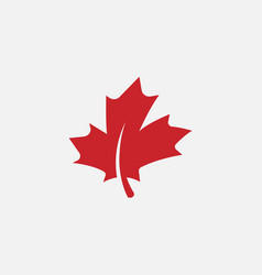 Autumn leaf canadian icon maple leaf vector