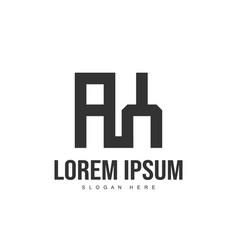 ay logo template design initial letter logo design vector image