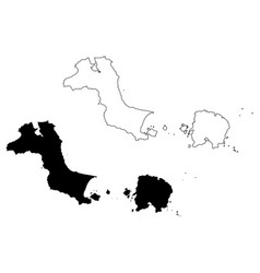 bangka belitung islands map vector image
