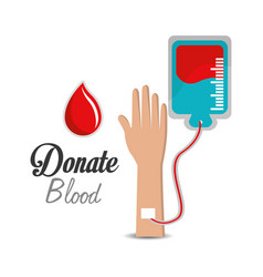blood donation campaign icon vector image