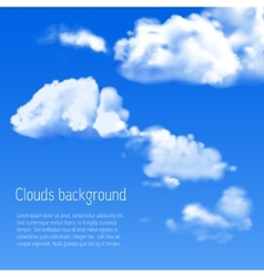 Blue sky with white clouds vector image
