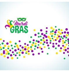 Bright abstract dot mardi gras pattern vector