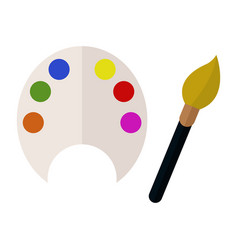 Brush and palette icon vector