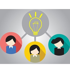 Business people for teamwork vector image