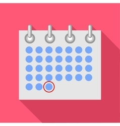Calendar icon flat style vector image