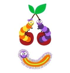 Cartoon caterpillar insect vector