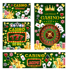 Casino gambling game poker chips fortune wheel vector