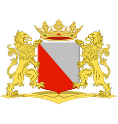 Coat of arms of utrecht in utrecht netherlands vector