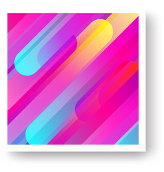 colorful cover with geometric background vector image