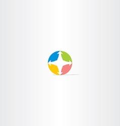 compass circle icon logo vector image