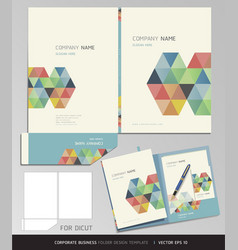 Corporate Identity business set folder design vector image