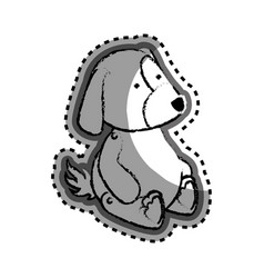 cute dog baby toy icon vector image