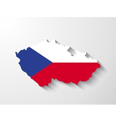 czech republic map with shadow effect vector image