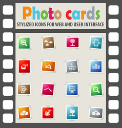 data analytic and social network icon set vector image