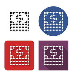 dotted icon banknotes pack in four variants vector image